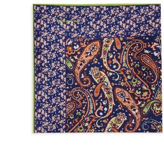 Kiton Paisley Silk Pocket Square