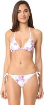 Roberto Cavalli Floral Bikini Top