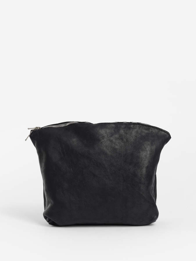 Guidi BLACK SOFT HORSE FULL GRAIN BEAUTYCASE POUCH