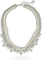 BCBGeneration Multi-Row Pearl and Metal Statement Necklace