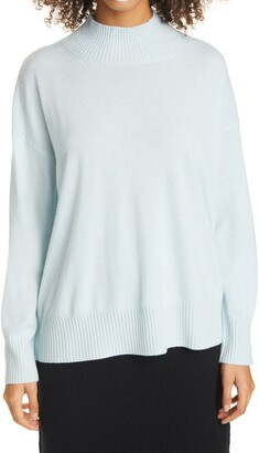 Eileen Fisher Mock Neck Cashmere Sweater