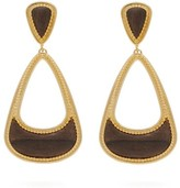 Joelle Gagnard Kharrat - Pera Gold-plated Wooden Drop Earrings - Womens - Gold