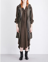 Ann Demeulemeester Hooded ribbed cotton cardigan