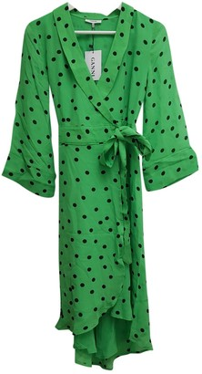 Ganni Spring Summer 2019 Green Viscose Dresses
