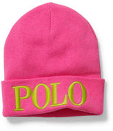 Polo Ralph Lauren Embroidered Wool-Blend Beanie
