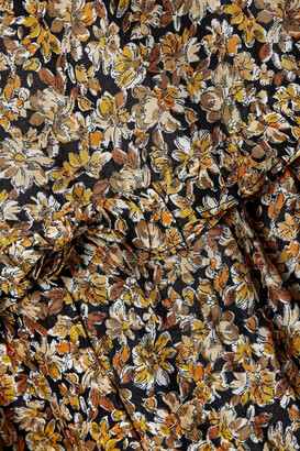 Rixo Kiara Ruffled Floral-print Silk Maxi Dress - Brown