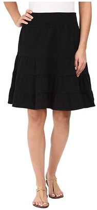 Fresh Produce Jersey Tiered Skirt (Black) Women's Skirt