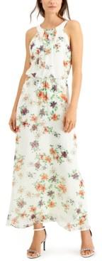 Robbie Bee Petite Clip-Dot Maxi Dress