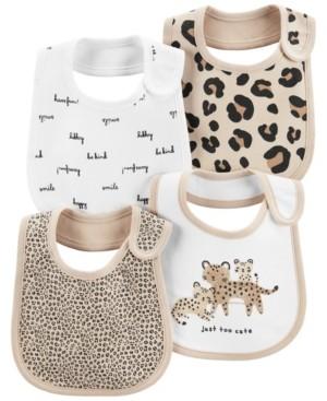 Carter's Baby Girl 4-Pack Animal Teething Bibs