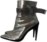 Off-White Off White Silver Patent leather Ankle boots