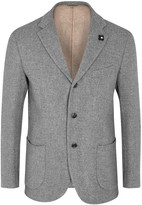Lardini Grey Wool And Cotton Blend Blazer