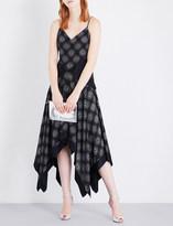 Diane von Furstenberg Abstract-print handkerchief-hem silk dress