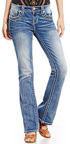 Miss Me Embroidered Trim Pocket Stretch Denim Bootcut Jeans