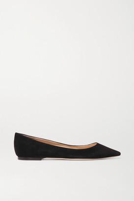 Jimmy Choo Romy Suede Point-toe Flats - Black