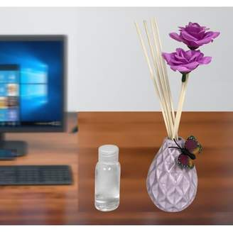 Creative Motion Scented Fragrance For Aroma Diffuser for Therapy (Purple Ceramic Vase + 1 Aroma Oil);Product Size: 8.5 x 2 x 2. Wedding Event Aroma Relaxing Home office Shop Table Center Piece