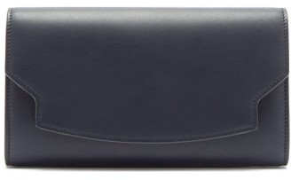 The Row Lady Leather Wallet - Womens - Navy