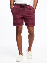 "Old Navy Striped Drawstring Shorts for Men (7"")"