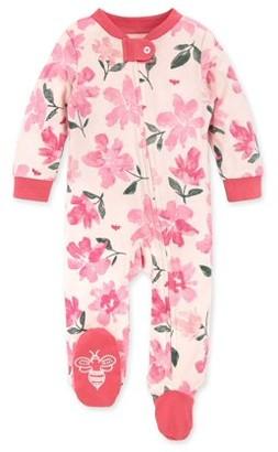 Burt's Bees Baby Newborn Baby Girls Organic Sleep 'N Play Footed Pajamas (NB-9M)