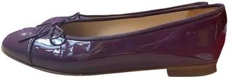 Chanel Purple Patent leather Flats