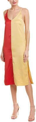 City Sleek Color Block Midi Dress
