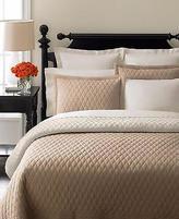 Martha Stewart Collection Martha Stewart Solid Diamond Stitch Reversible Standard Pillow Sham- Khaki/cream
