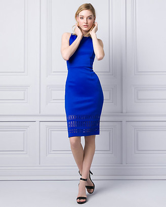 Le Château Laser Cut Scuba Knit Shift Dress