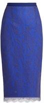Emilio De La Morena Ellen lace-overlay pencil skirt