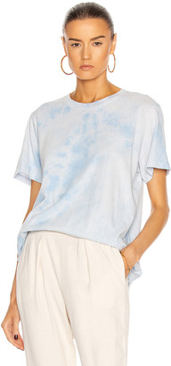 Raquel Allegra New Boyfriend Tie Dye Tee in Cloud Wash Blue | FWRD