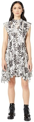 AllSaints Fleur Wing Dress (Chalk White) Women's Clothing