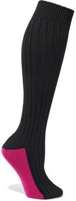Red(V) Two-tone Wool Socks