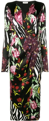 ATTICO Victoria patchwork print wrap dress