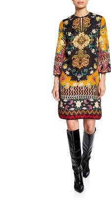 Etro Neo Nomad Matelasse Caftan Dress