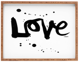 DENY Designs Love 1 Large Rectangular Tray