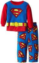 Superman Little Boys' 2 Piece Polar Fleece Pajama Set