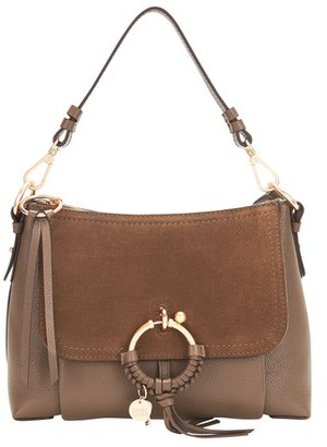 See by Chloe Leather and suede Joan shoulder bag