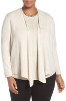 Nic+Zoe Plus Size Women's '4-Way' Convertible Cotton Blend Cardigan