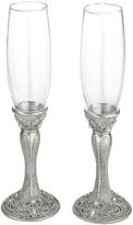Lillian Rose Elegant Silver Jeweled Toasting Glasses