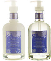 Mosaiq Lavender & Lemon Peel 2Pc Hand Soap & Lotion Glass Bottle Set