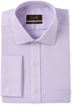 Tasso Elba Men's Classic/Regular Fit Non-Iron Lavender Tonal Square Texture French Cuff Dress Shirt, Created for Macy's