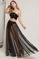 Forever 21 Kikiriki Sheer Maxi Skirt
