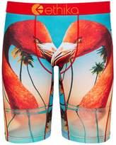 Ethika Men's The Staple Flamingo Island Boxer Brief Underwear Black L