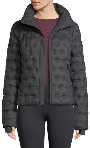 The North Face Holladown Pintuck-Quilted Crop Jacket