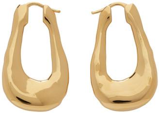Jil Sander Gold Chain Drop Earrings