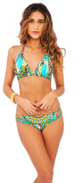 Luli Fama Moon Princess D/DD Cup Triangle Halter In Multicolor (L489073)