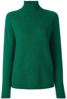 Malo roll neck ribbed pullover - women - Cashmere - L