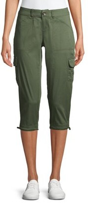 Time and Tru Women's Cargo Capri Pants
