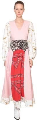 Ganni Sweeny Printed Cotton Poplin Maxi Dress