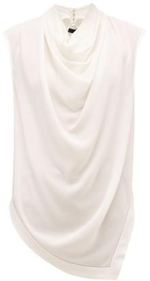 Proenza Schouler Cowl-neck Silk-crepe Top - Ivory