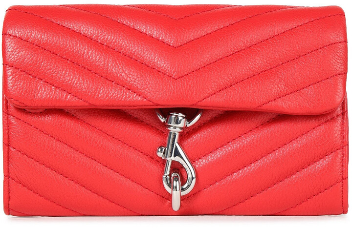 Rebecca Minkoff Quilted Pebbled-leather Wallet