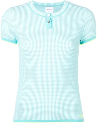 Barrie Cashmere Grid Top